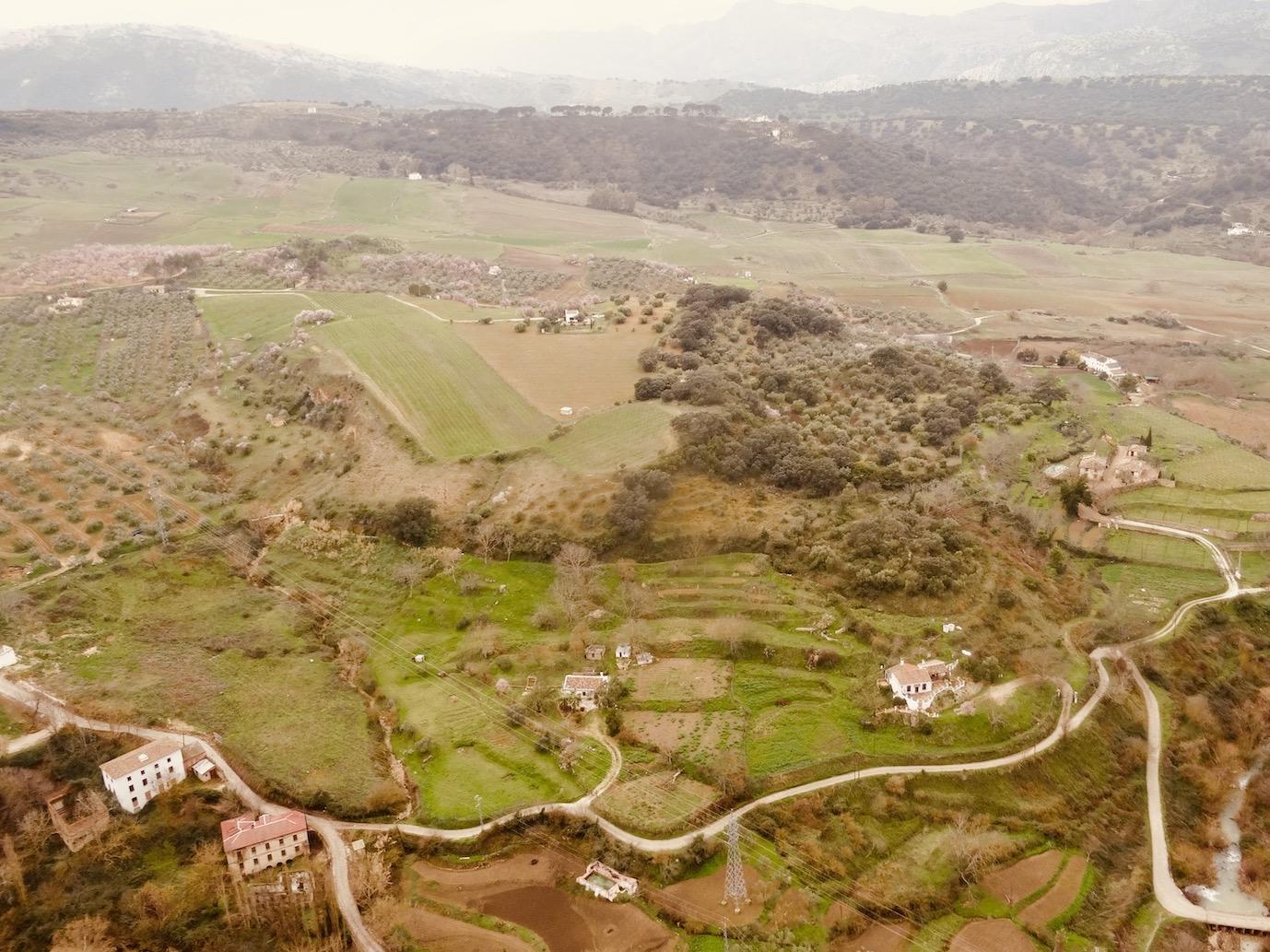 Ronda countryside in Spain.