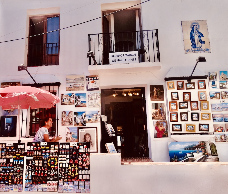 Souvenir shop Torremolinos Costa del Sol.