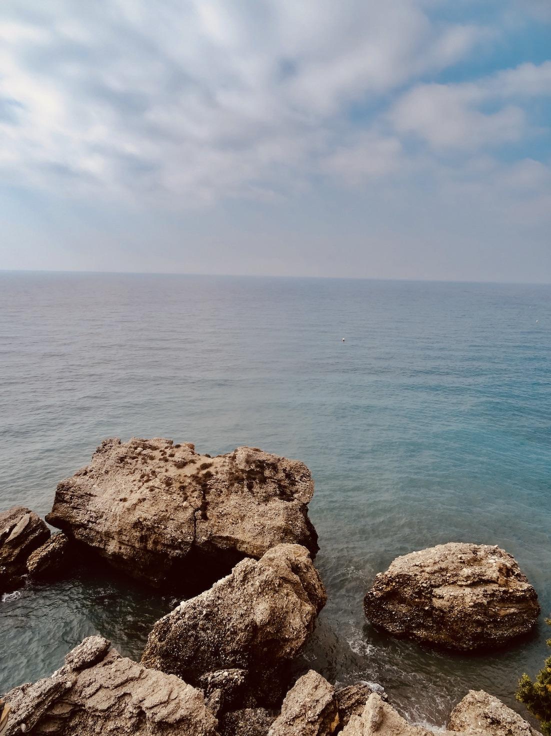 The Alboran Sea Nerja Spain.