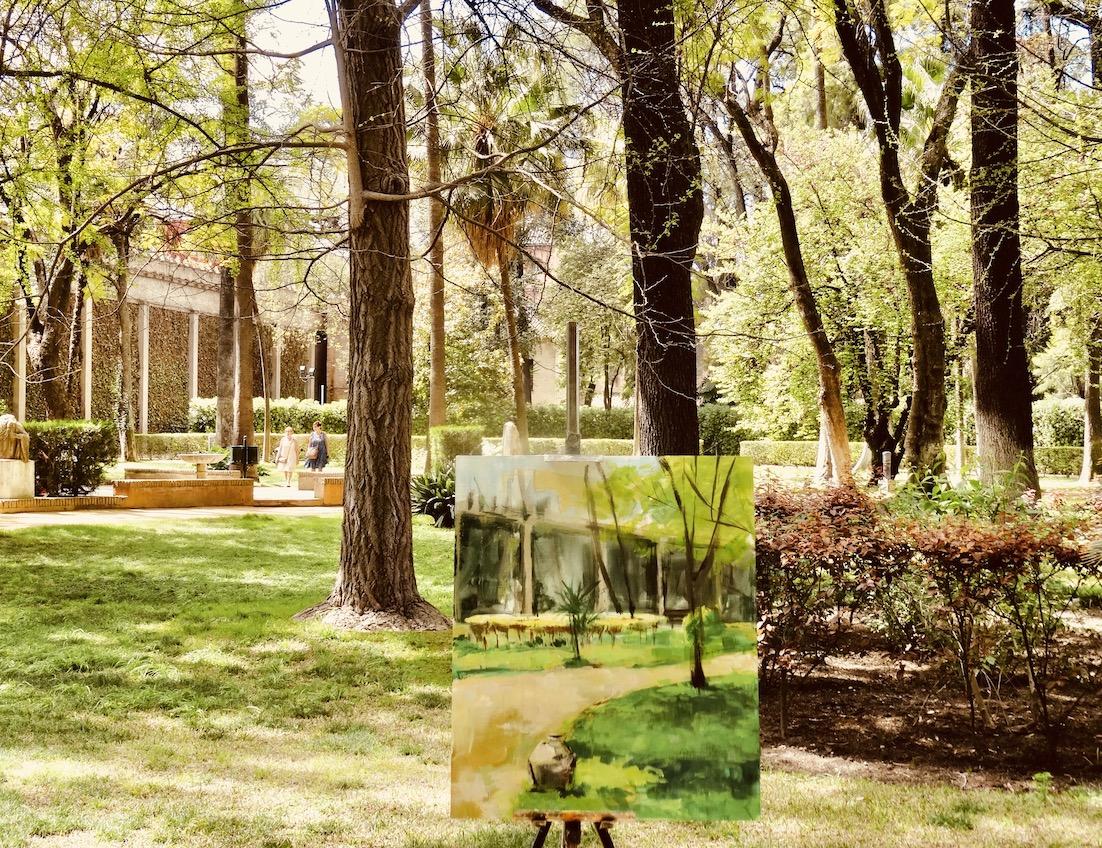 The Alcazar Palace Gardens.
