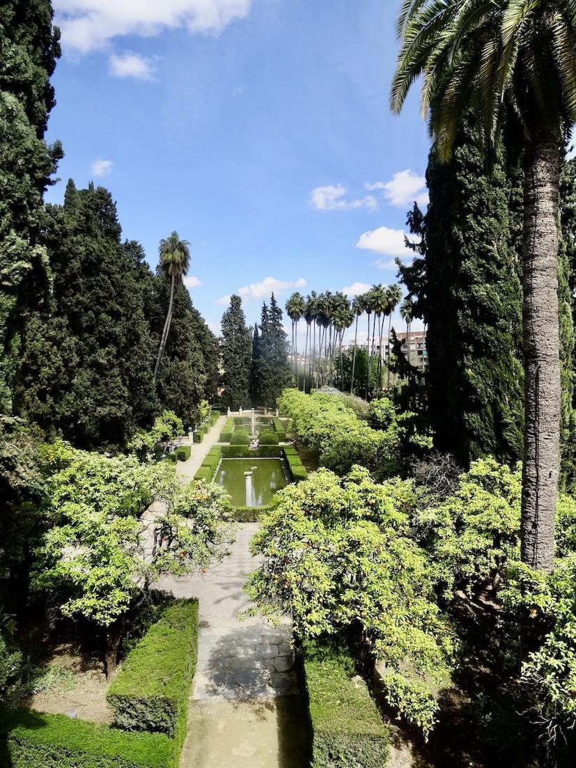 The Alcazar Palace Gardens Seville.