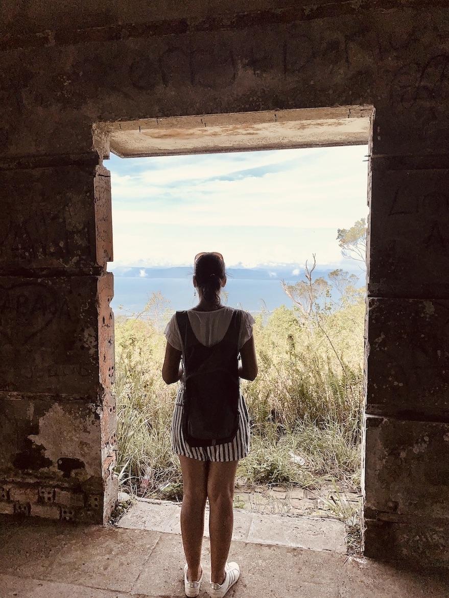 Abandoned buildings Bokor National Park.