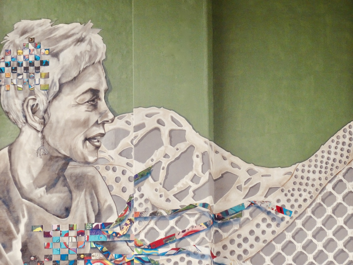 Art mural La Salve Bridge Bilbao.