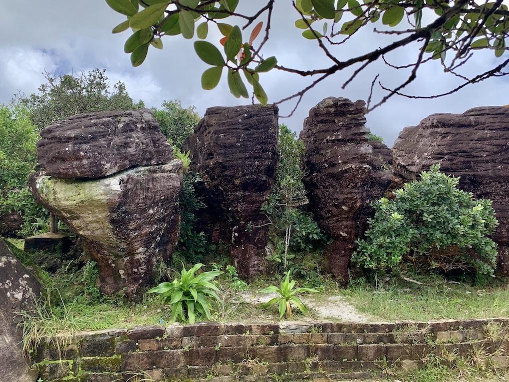 Boat rock sculptures Wat Sampov Pram Temple.
