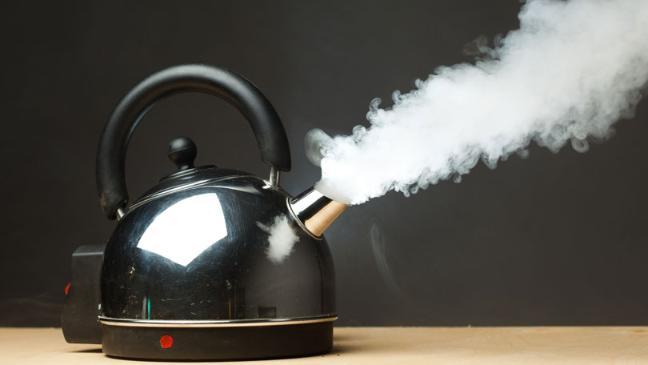 Boiling kettle.