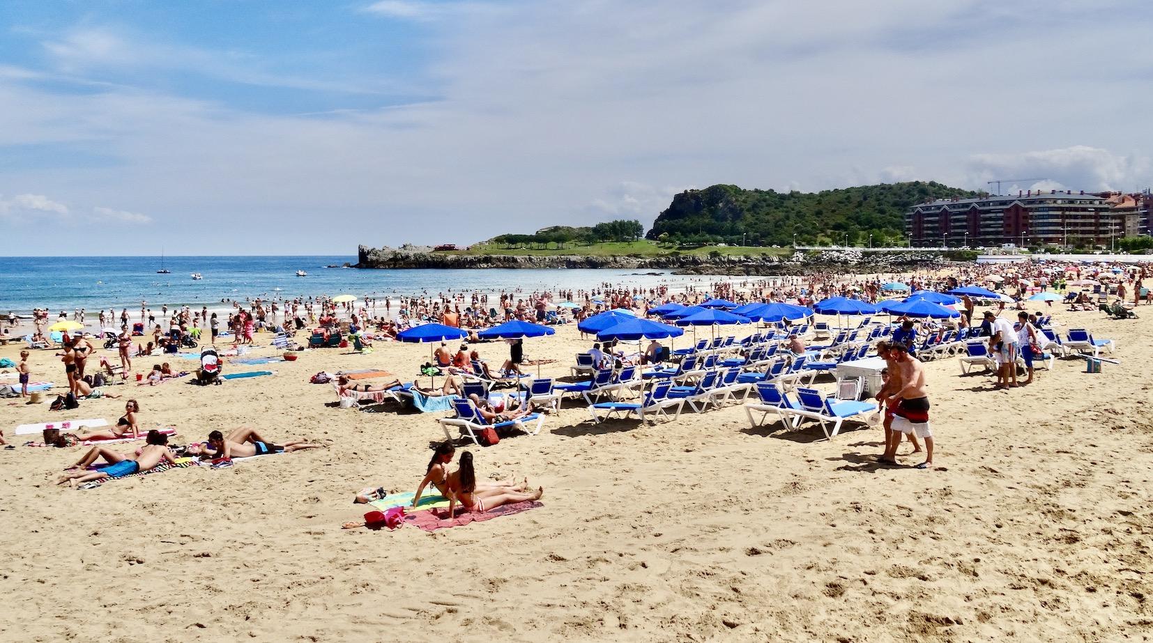 Brazomar Beach in Castro Urdiales