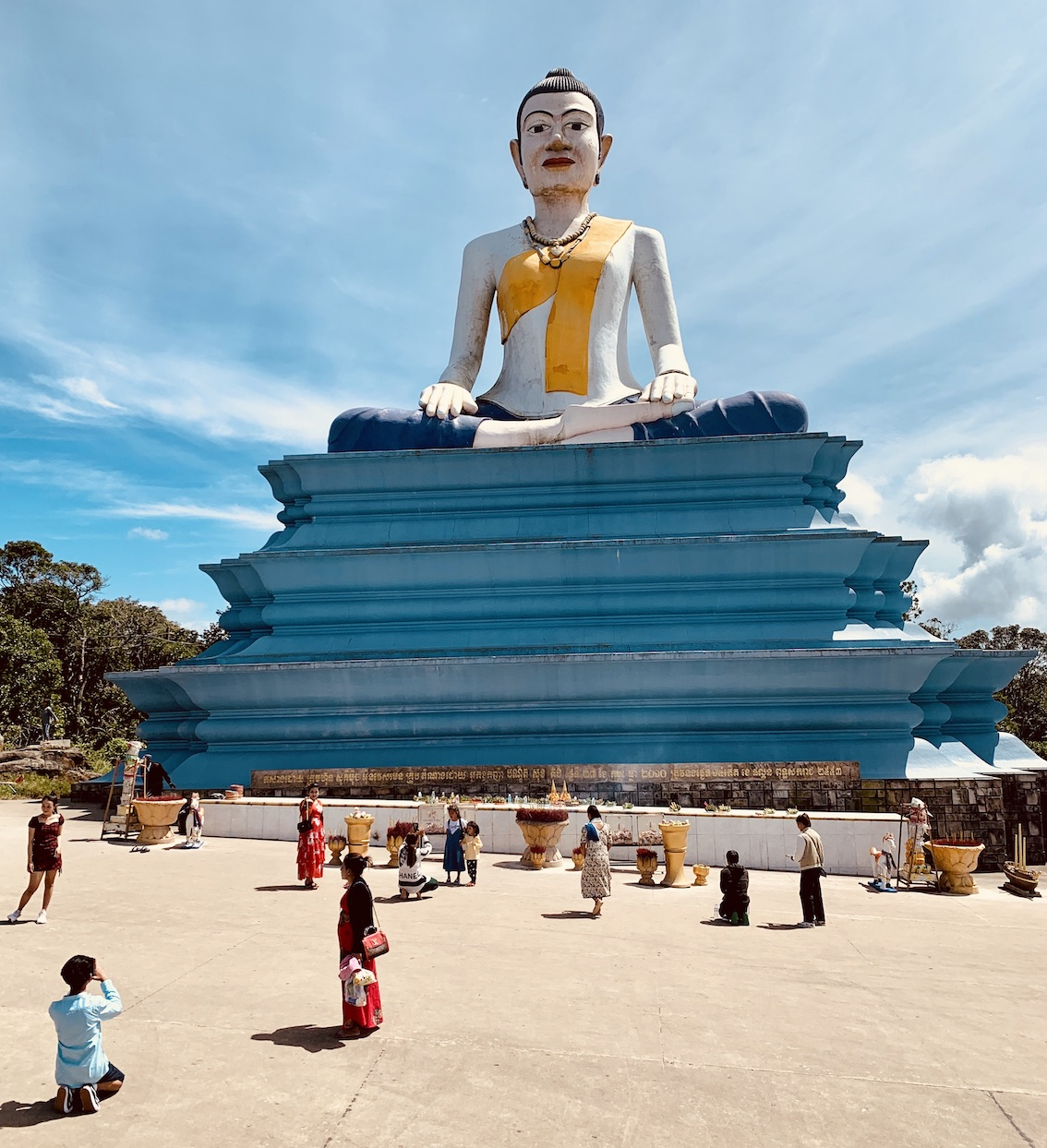 Buddha statue Bokor National Park.