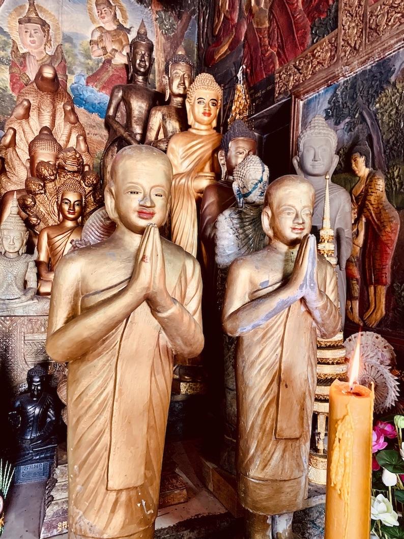 Buddhist Temple Bokor Mountain Cambodia.
