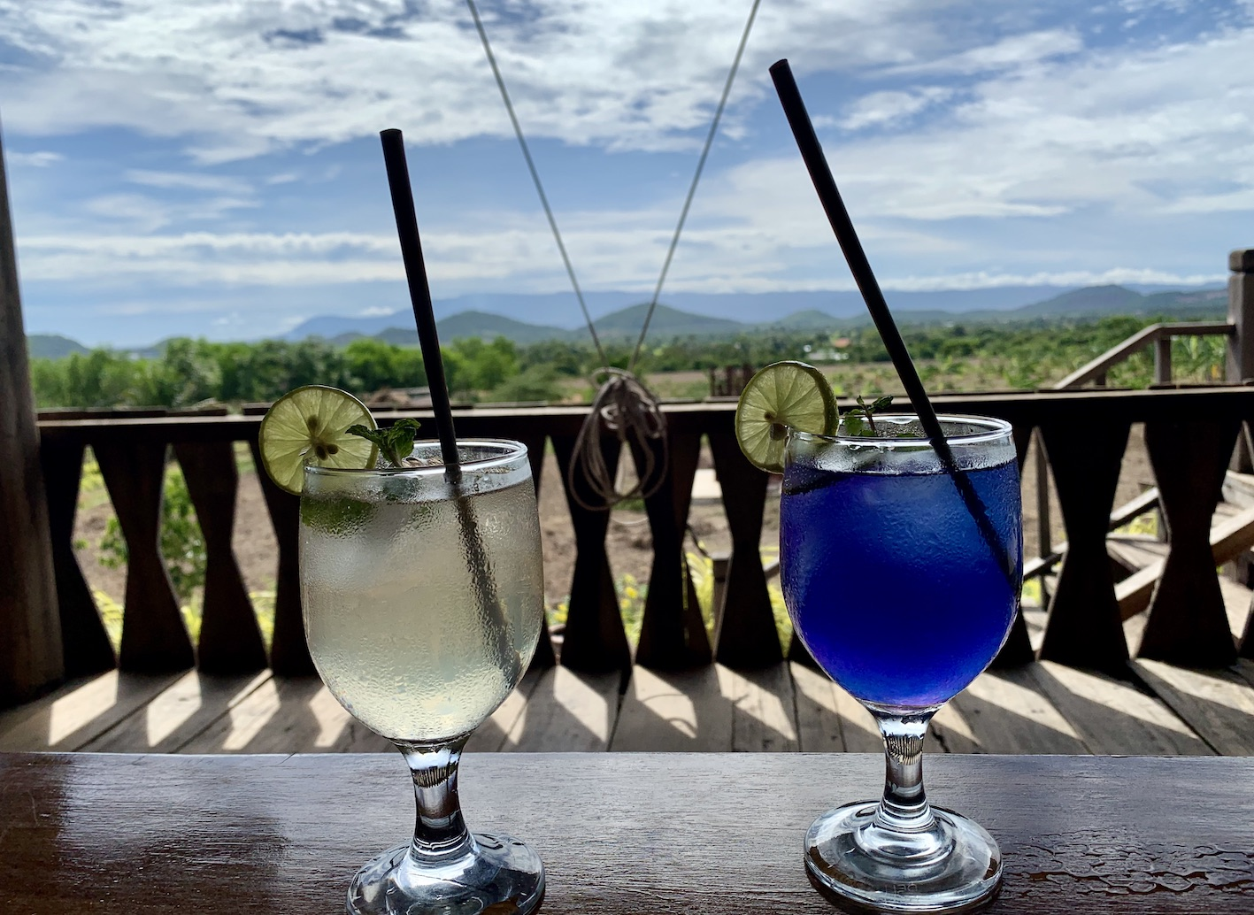 Butterfly Pea Flower Cocktail Kampot Cambodia