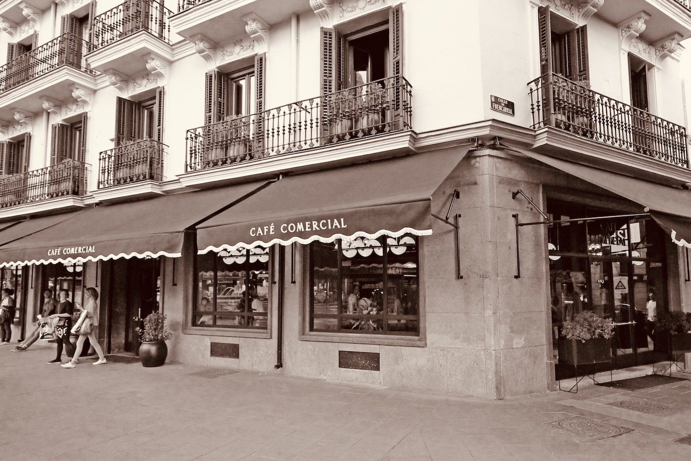 Cafe Comercial Madrid.