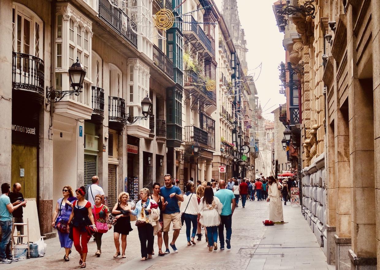 Calle de Bidebarrieta Bilbao.