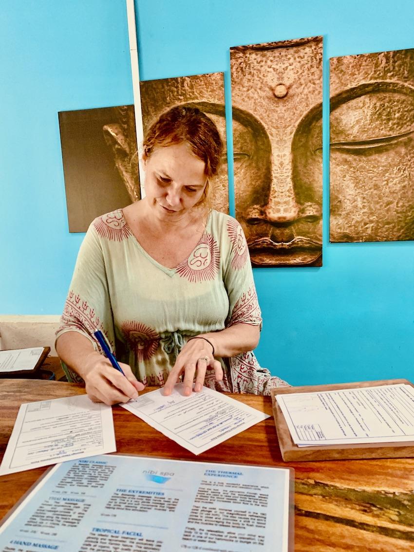 Client consultation Nibi Spa Kampot.