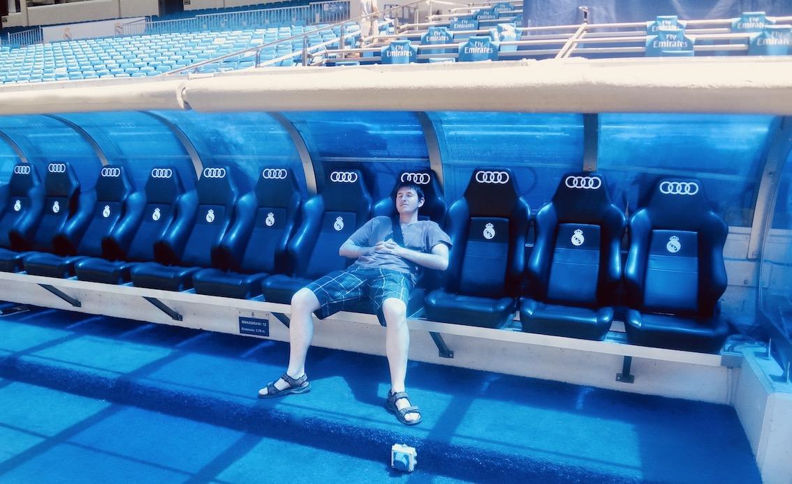 Dugout Santiago Bernabéu.