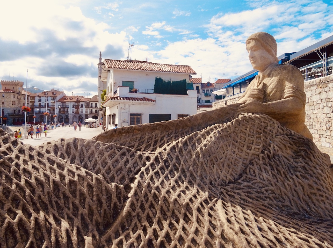 Fishing net sculpture Castro Urdiales.