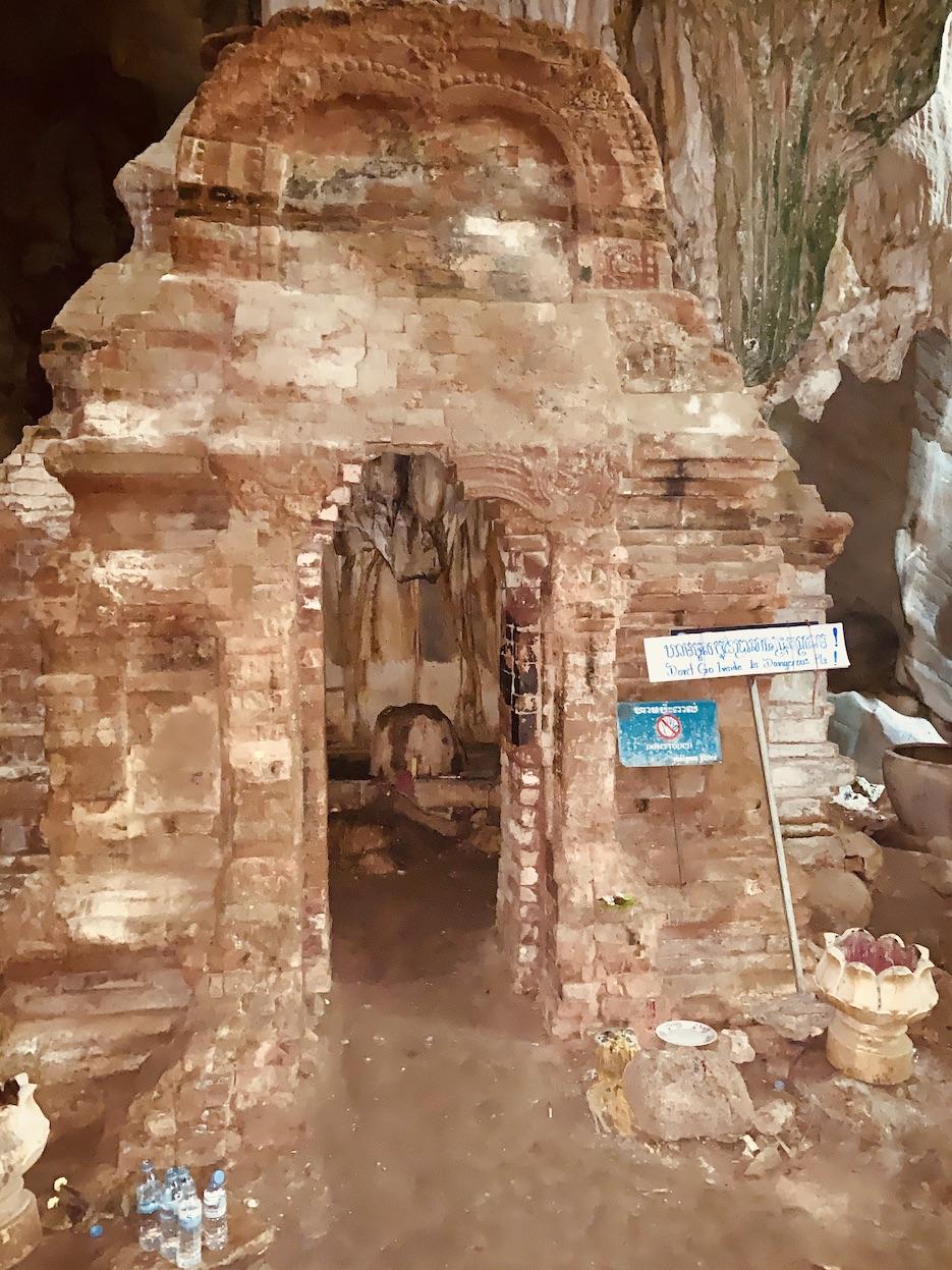 HIndu cave temple Kampot Cambodia.