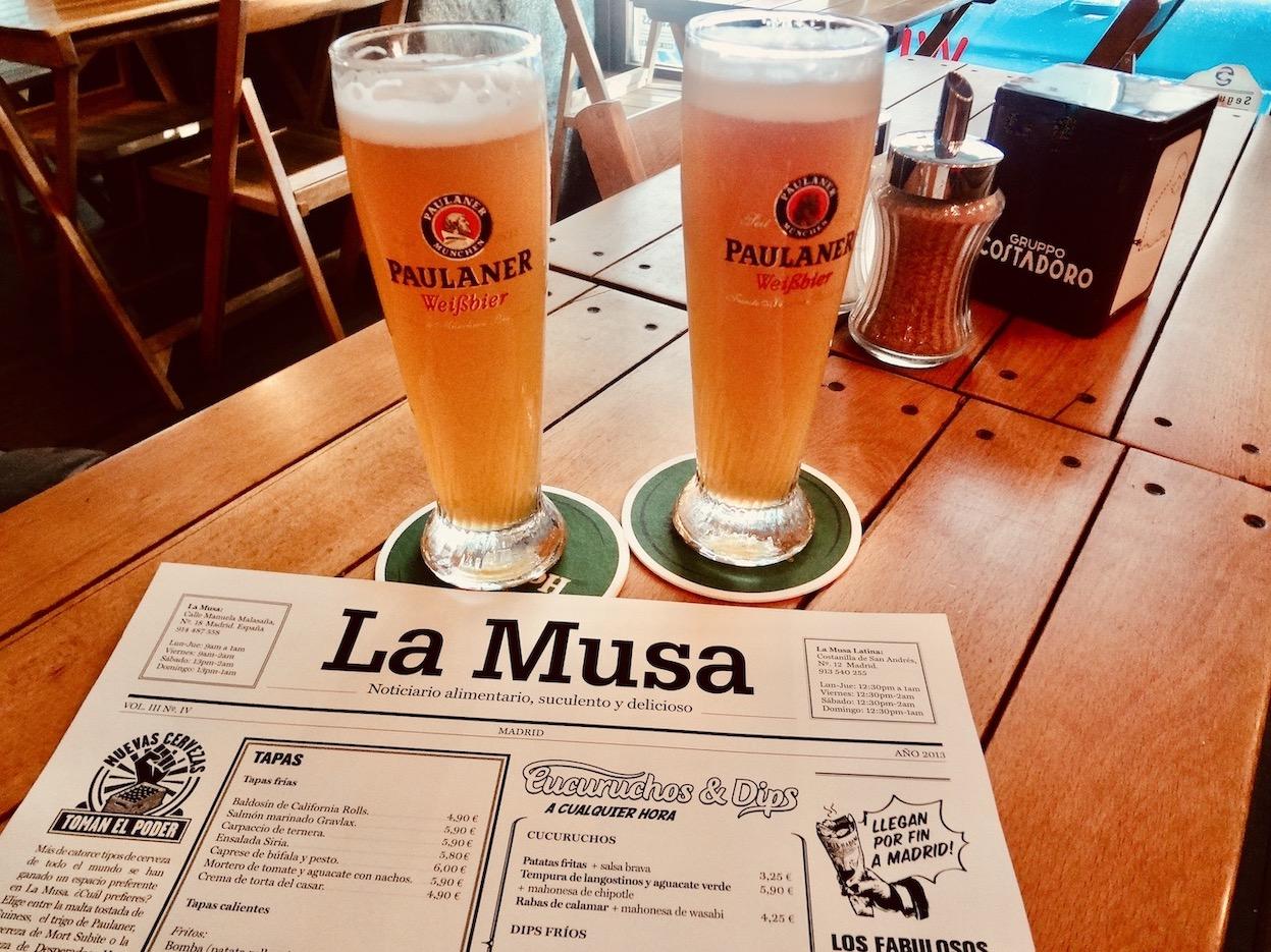 La Musa Malasana Restaurant Madrid.
