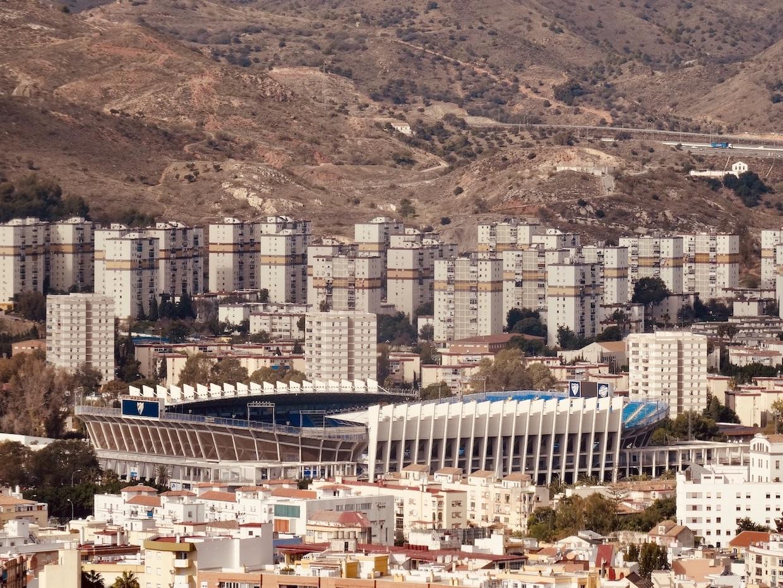 La Rosaleda Stadium Malaga.