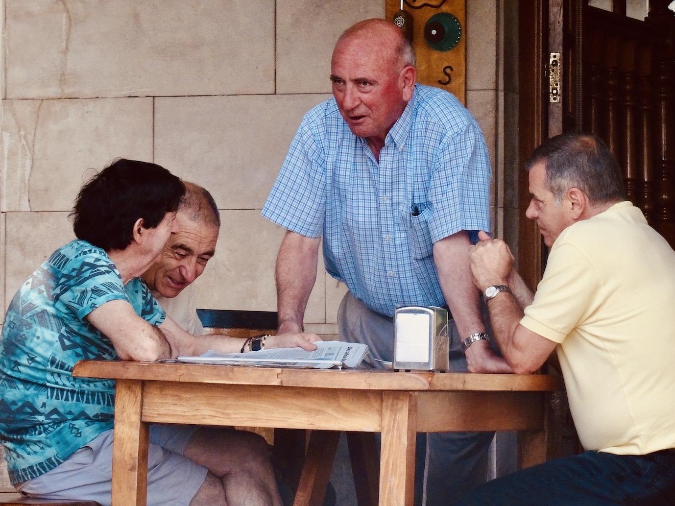 Local men Castro Urdiales Spain.