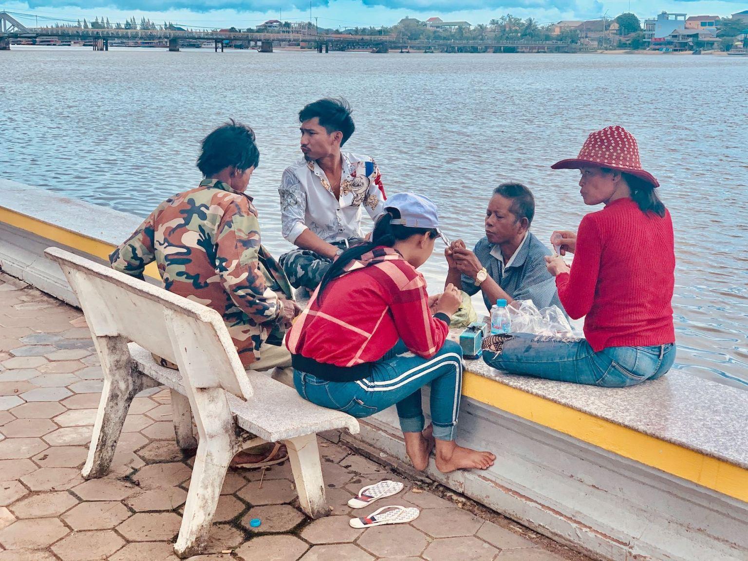 Lunch by The Praek Tuek Chhu River Kampot.