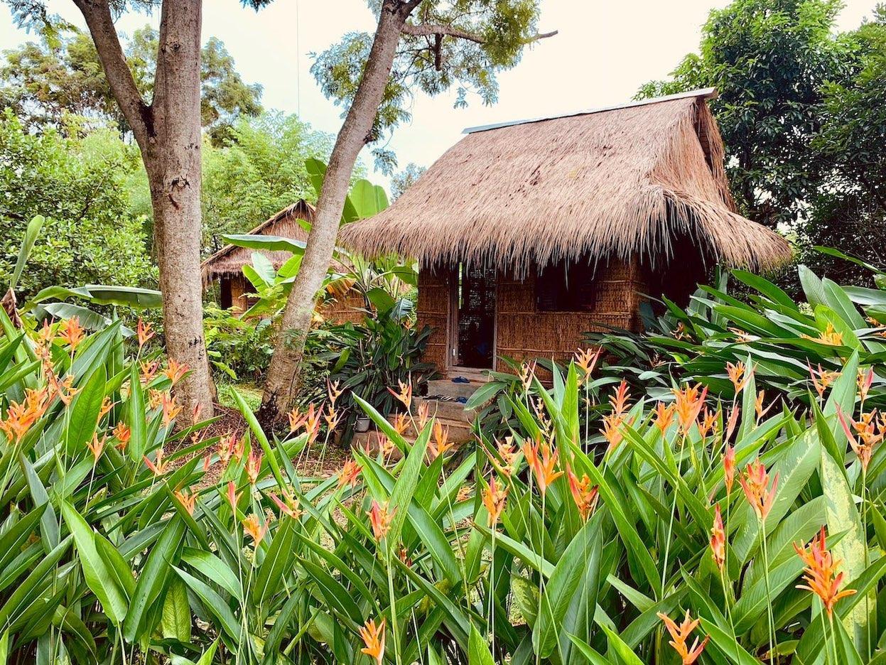 Massage hut Nibi Spa Kampot.