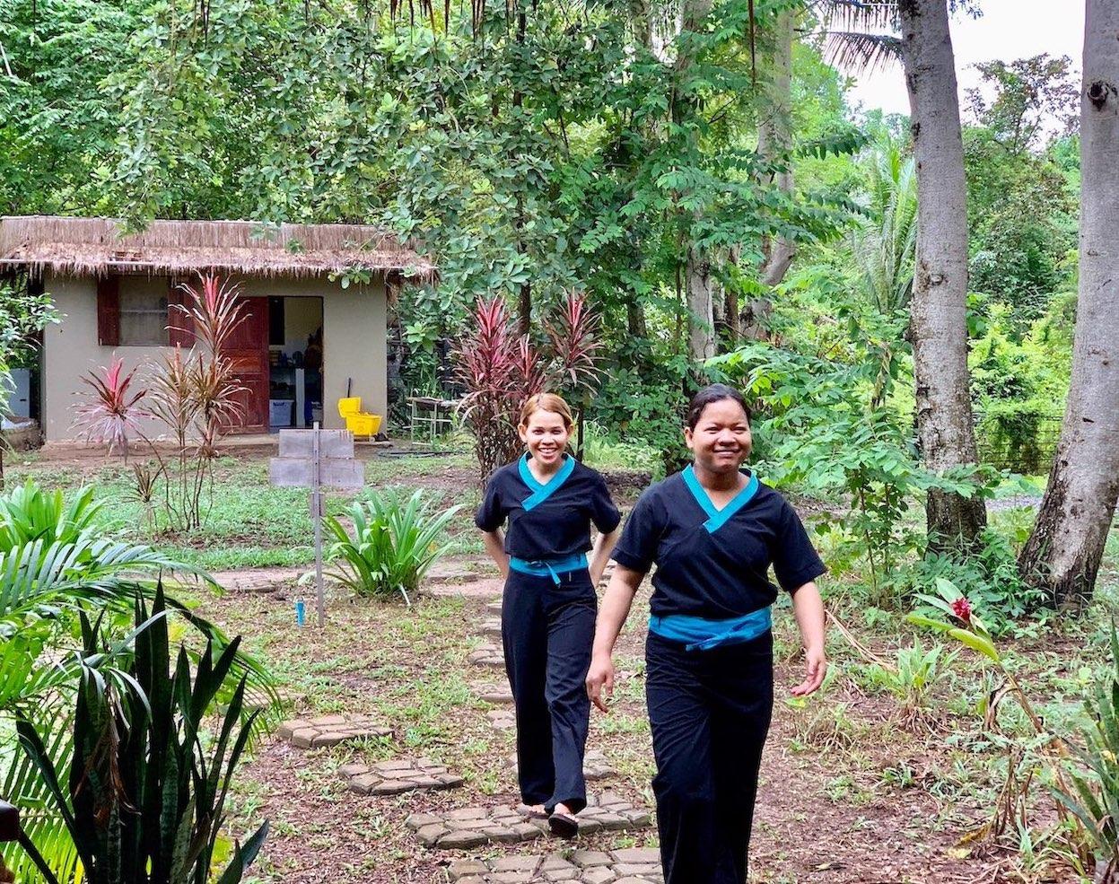 Massage therapists Nibi Spa Kampot Cambodia.