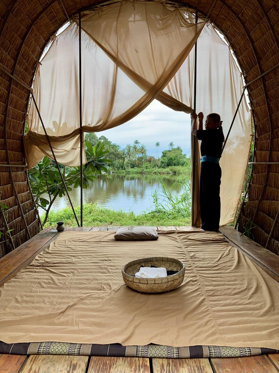Massage with river views Kampot Cambodia