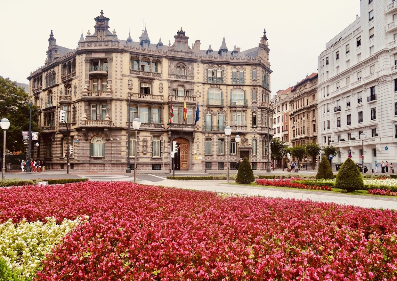 Moyua Square Bilbao Spain.