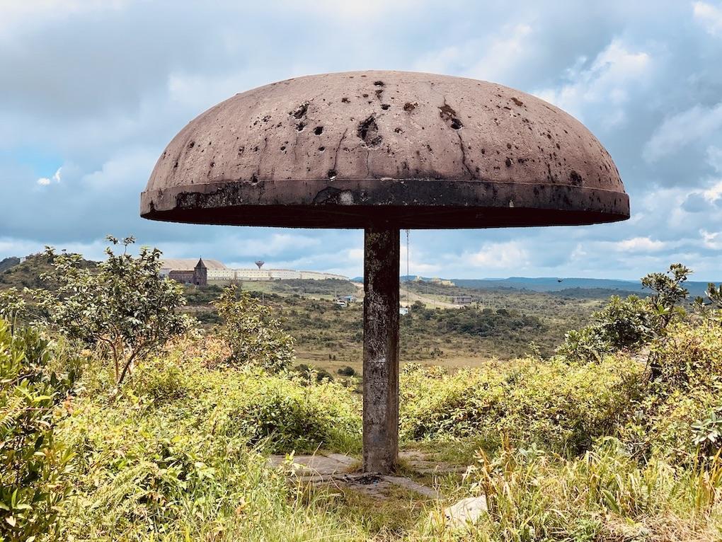 Mushroom sunshade Bokor Mountain.