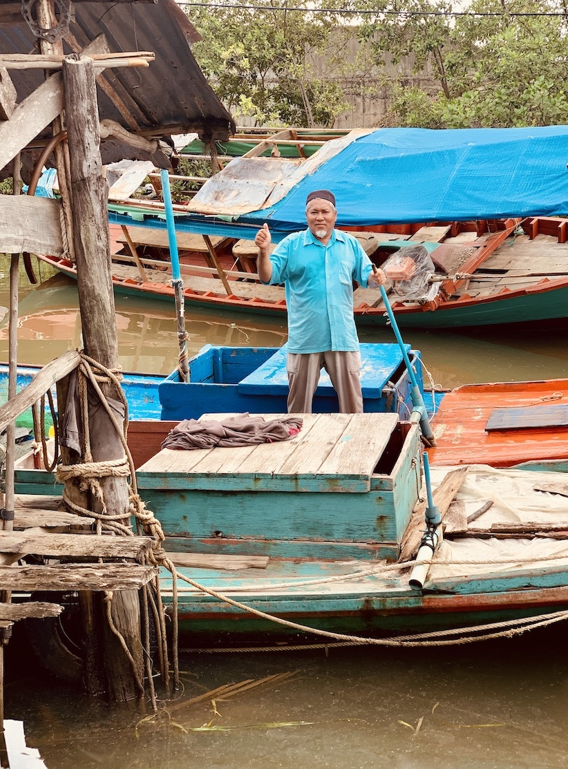 Muslim fisherman Kampot Cambodia.