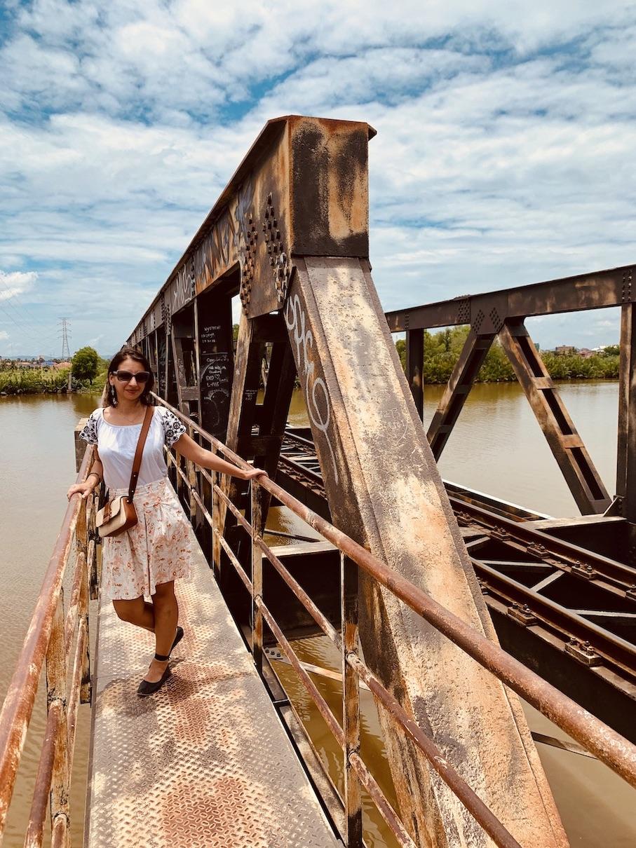 On the Old French Railway Bridge Kampot.
