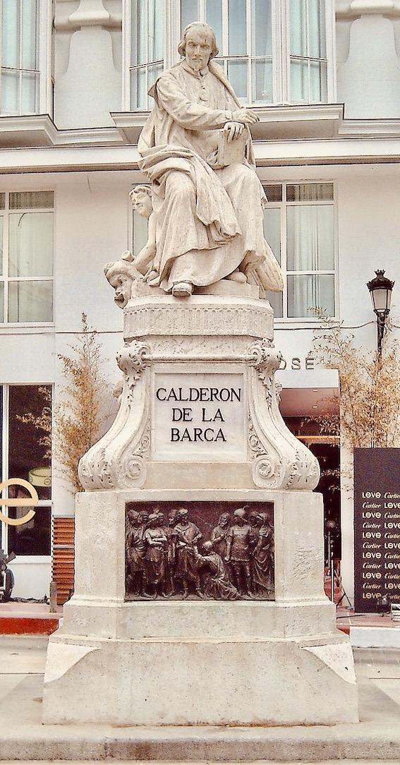 Pedro Calderón de la Barca Statue Madrid.