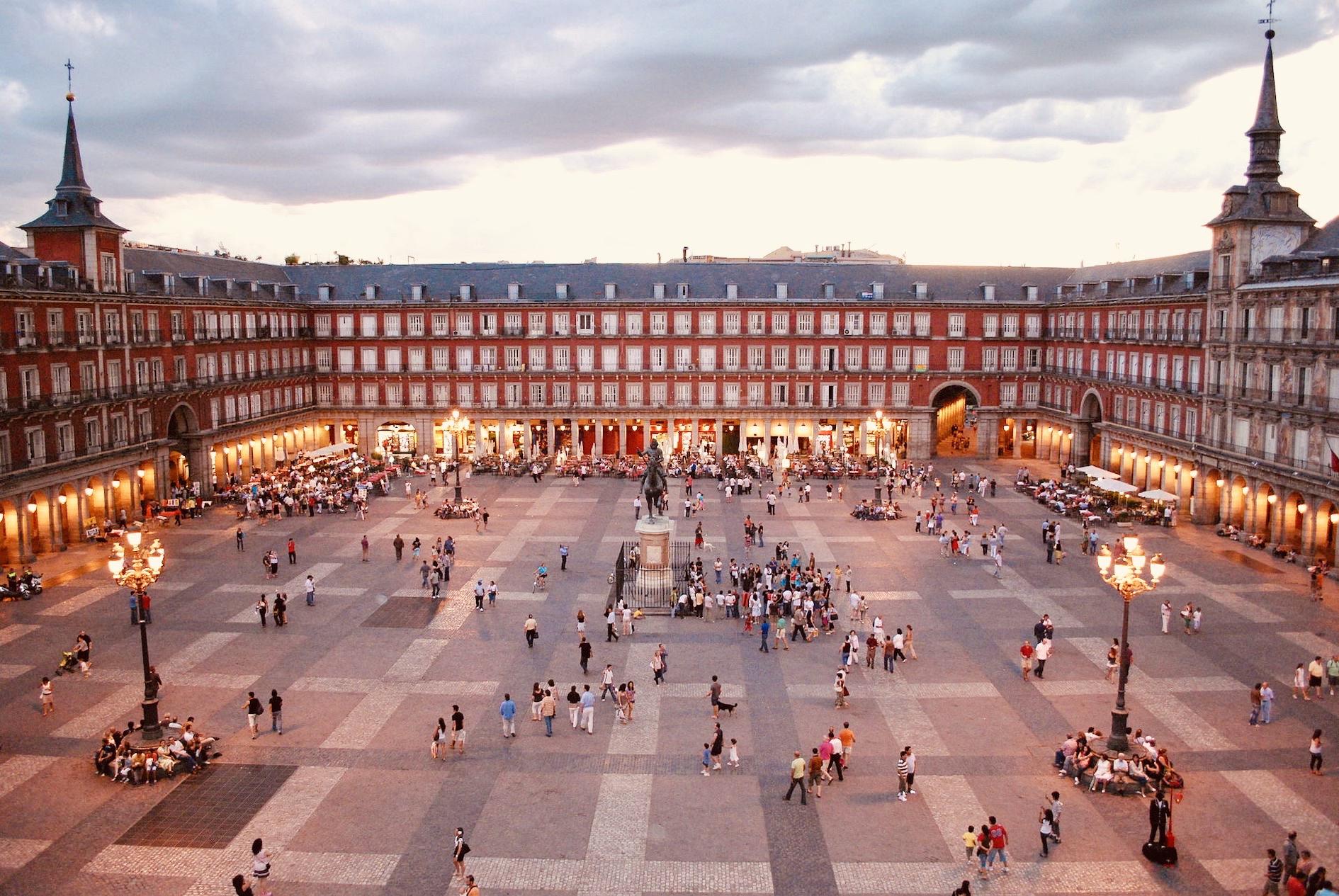 Plaza Mayor Madrid Spain.