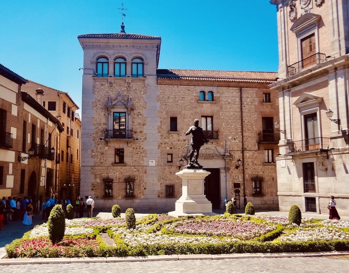 Plaza de la Villa Madrid Spain.