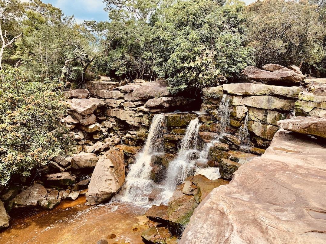 Popokvil Waterfall Bokor National Park.