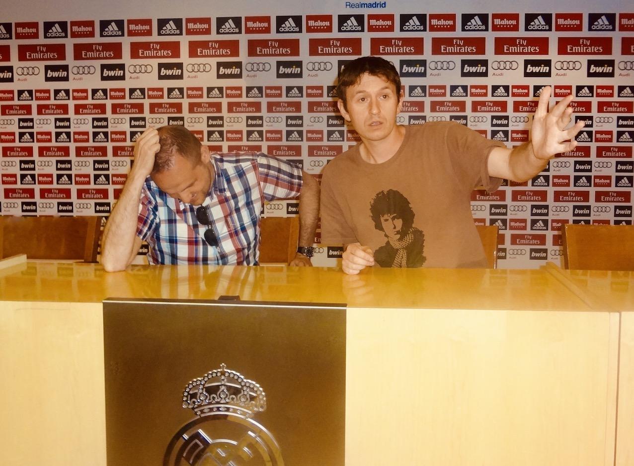 Press room Santiago Bernabéu.