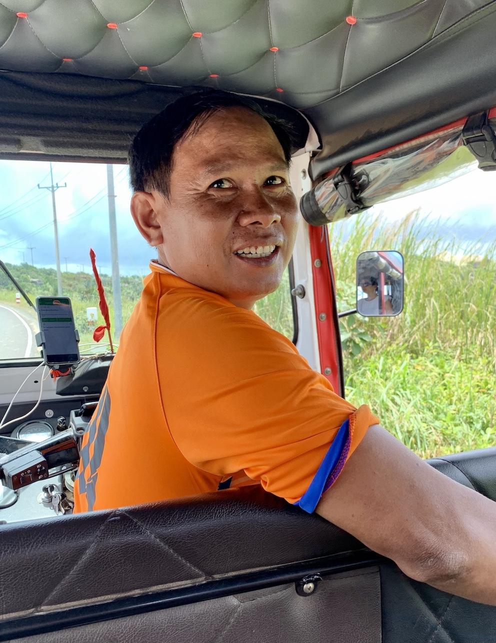 Private tuk tuk driver Bokor National Park.