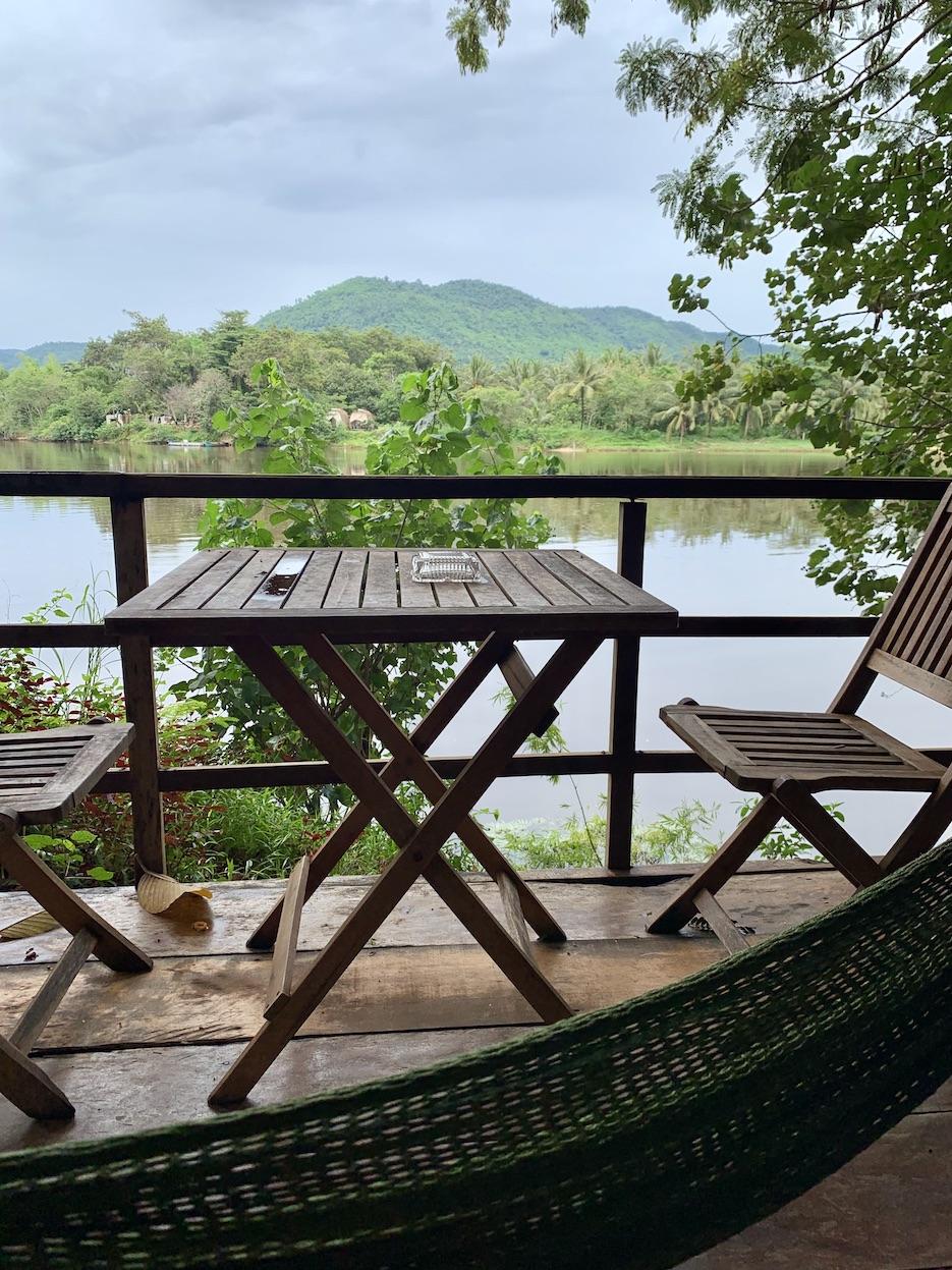 River views Greenhouse Bungalows Kampot.