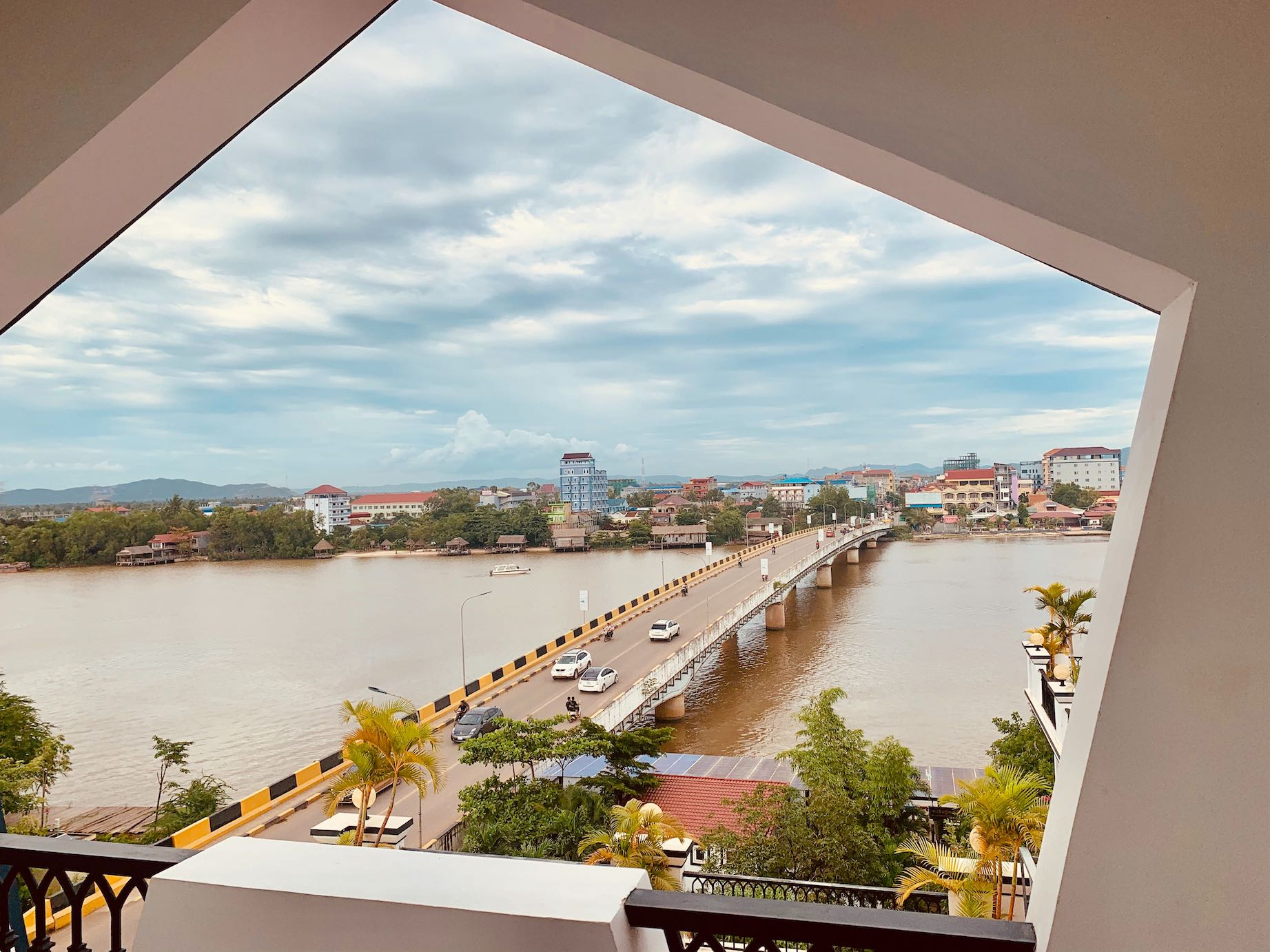 River views from Kampot View Boutique Hotel.