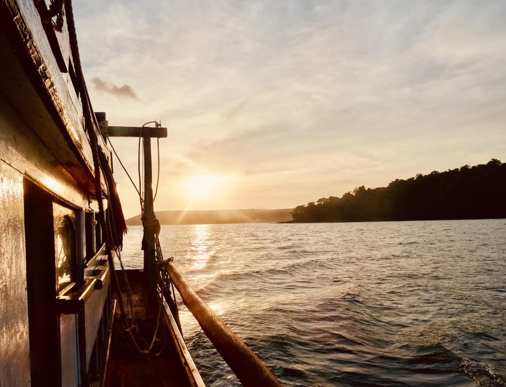Sailing to Koh Rong Island.