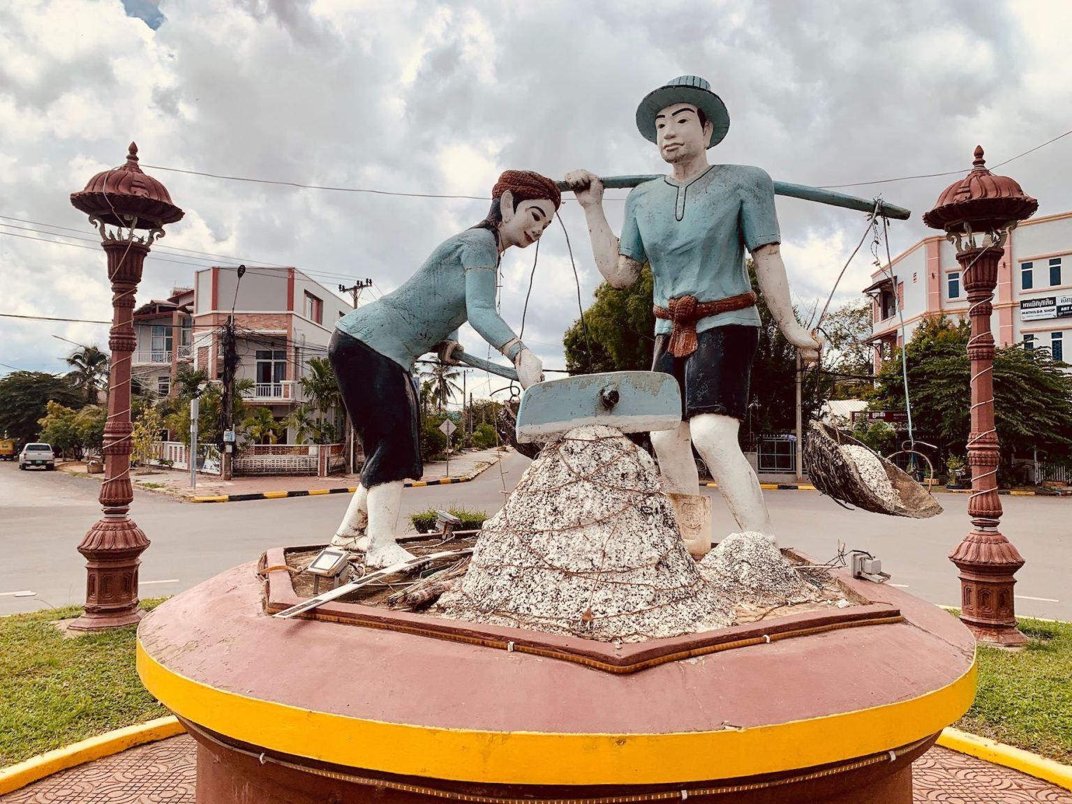 Salt Workers Roundabout Kampot.