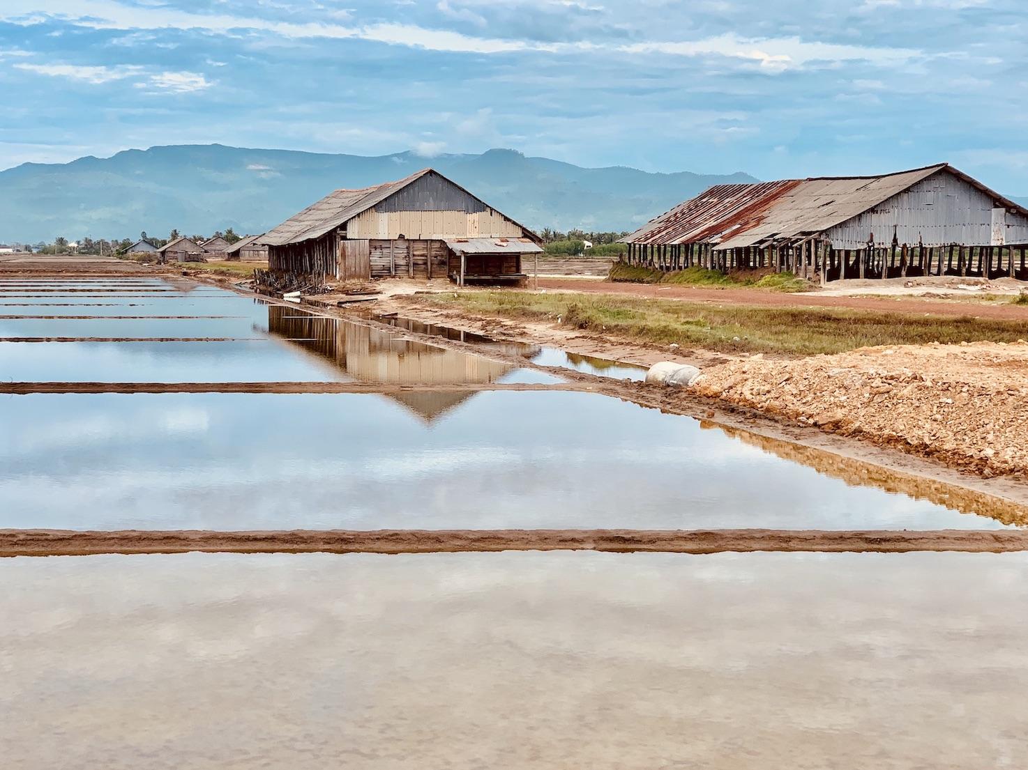 Salt fields Cool Spots Around Kampot.
