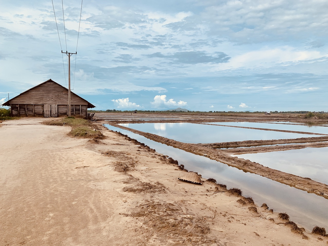 Salt fields Kampot.