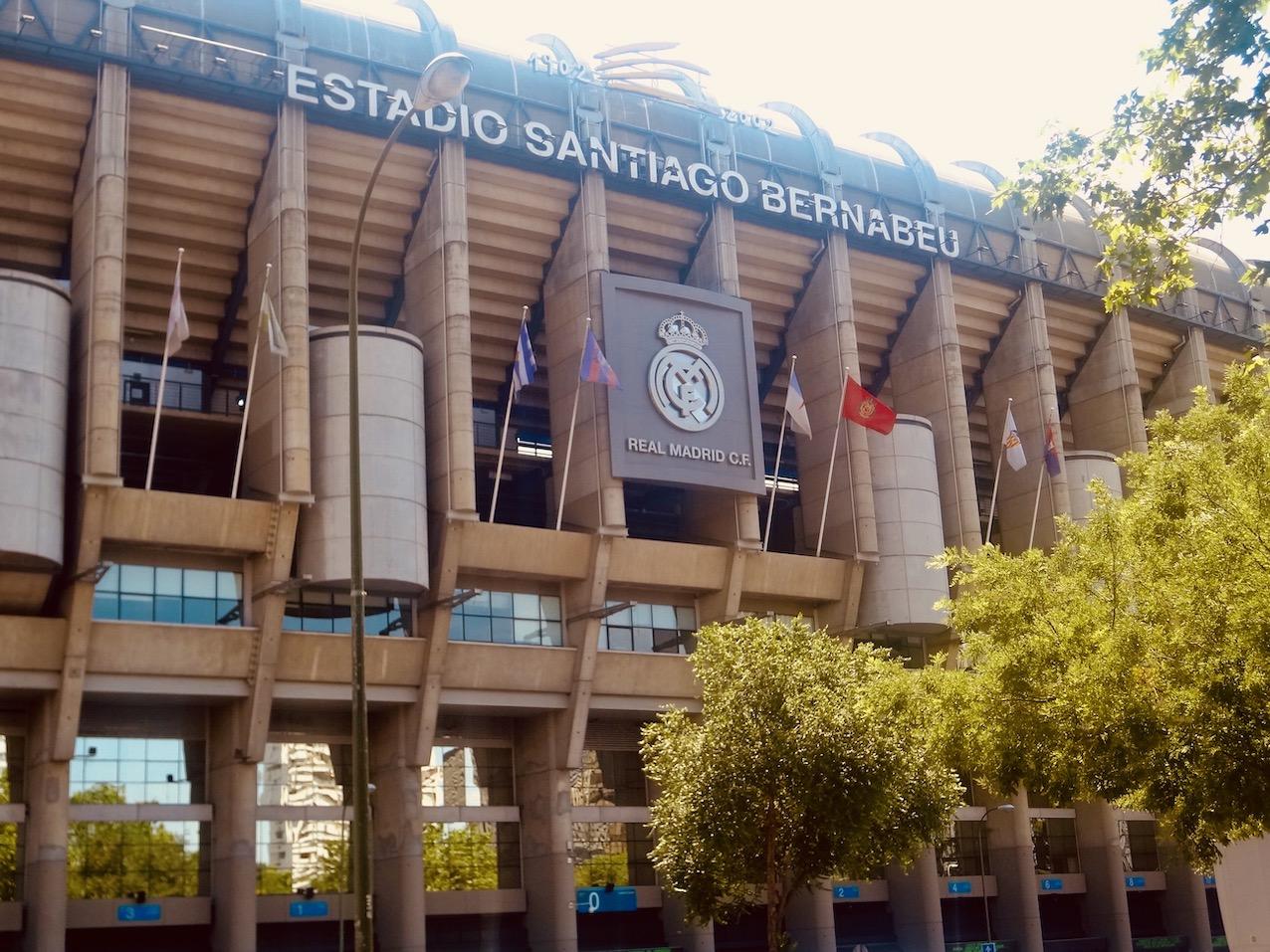 Santiago Bernabéu Stadium.