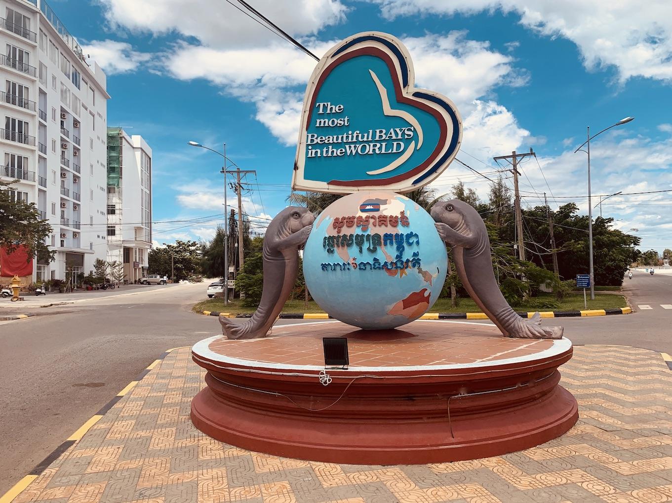 Seals roundabout Kampot.