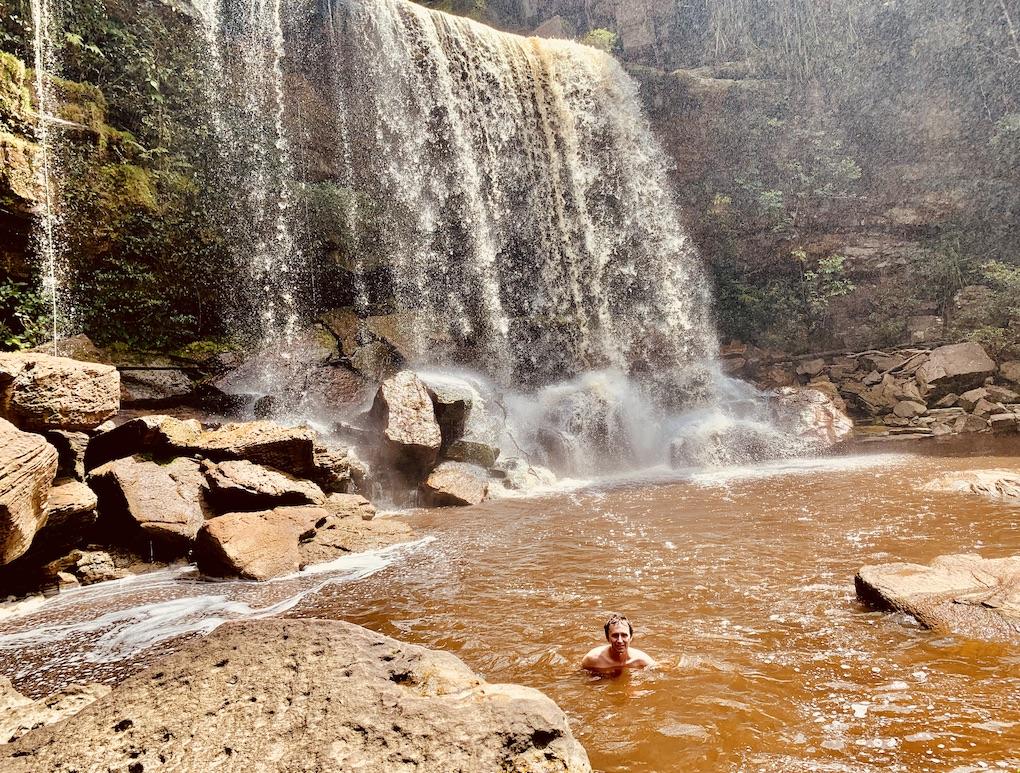 Secret Waterfall Bokor Mountain.