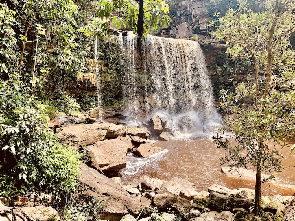 Secret Waterfall Bokor National Park.