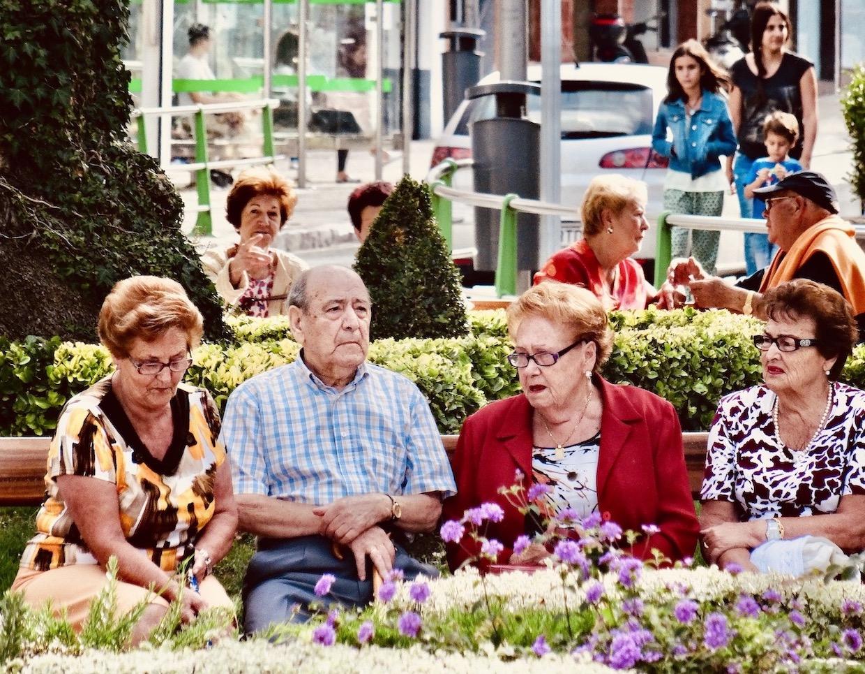 Senior locals Castro Urdiales Spain.