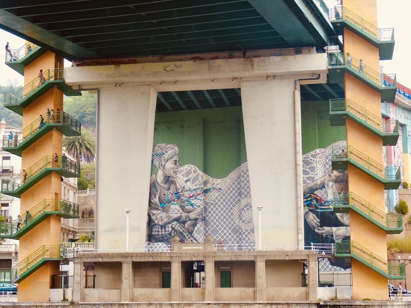 Street art Bilbao Spain.