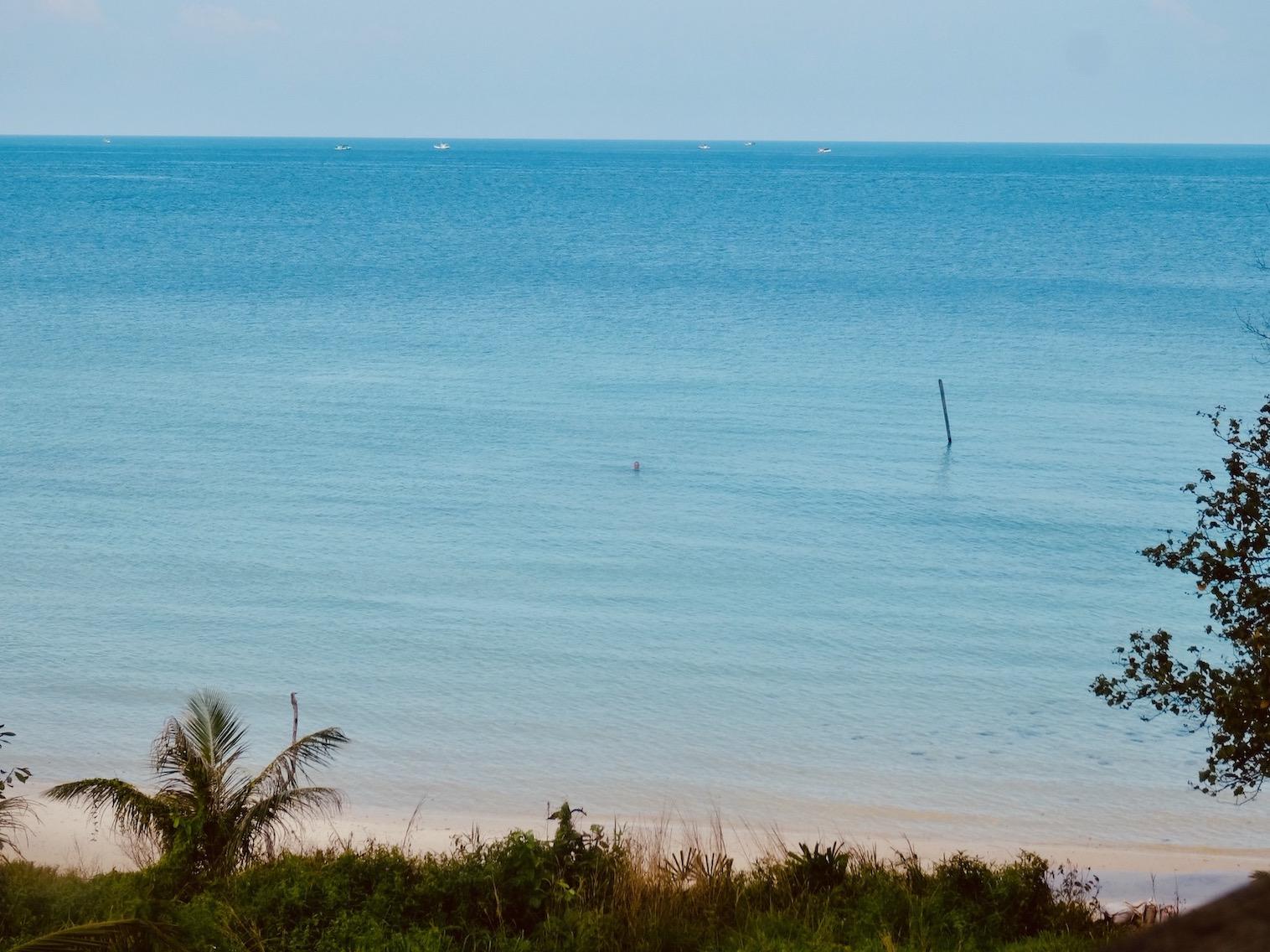 Swimming Koh Rong Island.
