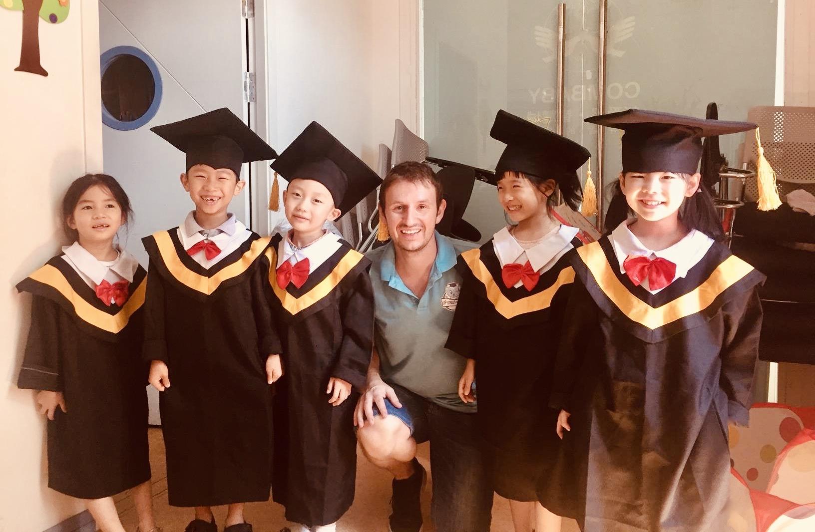 Teaching English in Ruian China.
